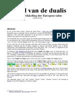 De rol van de dualis in de ontwikkeling der Europese talen