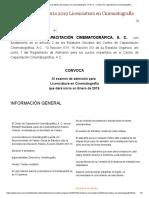 Cerrada_ Convocatoria 2019 Licenciatura en Cinematografía - El CCC » Centro de Capacitación Cinematográfica