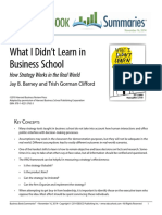 What I Didn't Learn in Business School-