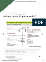Grafcet a Ladder Programación PLC » EDUCATIA - Automatización Industrial