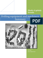 Drilling Machinery Summary