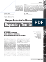 Campos de acción institucional