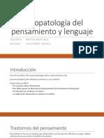 Psicopatología Del Pensamiento y Lenguaje Guillermo Abarca