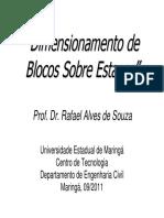 Blocos de Fundação (Exercícios) - Prof. Rafael Alves de Souza