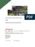 Culross Garden Wall - August 2007