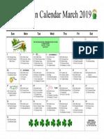 Mystic Recreation Calendar March 2019