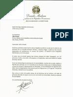 Carta de solidaridad del presidente Danilo Medina al primer ministro de la República Democrática de Etiopía, Abiy Ahmed, por víctimas de accidente aéreo