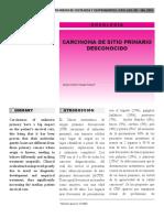 Carcinoma de Sitio Primario Desconocido