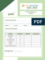 Examen Enero Cuarto Grado 2018-2019
