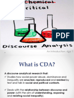 Criticical Discourse Analysis