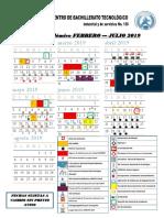 Calendario Enero - Julio 2019