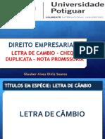 AULA - TÍTULOS EM ESPÉCIE - LC - DP - CHQ - NP.pptx