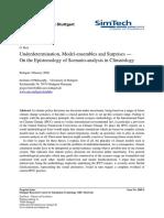 G. Betz Underdetermination, Model-ensembles and Surprises — On the Epistemology of Scenario-analysis in Climatology