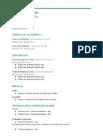 Modelo de Curriculo Para Preencher 4 Simplic