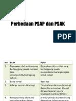 Perbedaan PSAP Dan PSAK