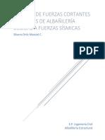 Fuerzas Cortantes en Muros de Albañileria