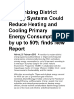 Modernizing District Energy Systems Could Reduce Heating and Cooling Primary Energy Consumption