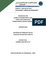 Evidencia 7 Análisis de Caso Identificación de Modos y Medios de Transporte