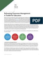 tt reframing classroom managment handouts