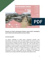 2da Circular - Encuentro Red de Asentamientos Populares - 23 y 24 de mayo de 2019 - FADU - Universidad Nacional de Córdoba