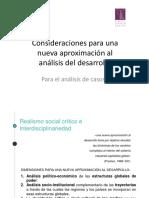 Forma de Aproximación Al Conocimiento de Las Relaciones Entre Los Ámbitos Implicados en Las Políticas de Desarrollo