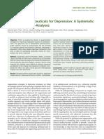 Adjunctive Nutraceuticals for Depression