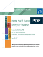 Mental Health in Emergency