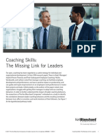 Coaching Skills the Missing Link for Leaders