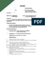 Manoj Dhage Resume