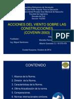 PRESENTACIÓN COVENIN 2003. Acciones del Viento sobre las Construcciones..pdf