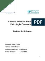 Familia, Politicas Publicas y Psicologia Social Comunitaria