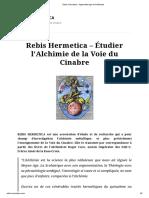 Rebis Hermetica - Apprentissage de L_'Alchimie