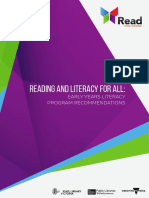 Reading and Literacy for All Early Years