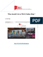 User Guide TRAX Online Help