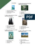examen de conocimientos generales para un postulante de Arquitectura
