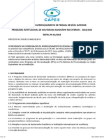 Edital Doutorado Sanduíche CAPES 2018-2019