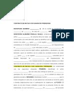 Contrato de Mutuo Con Garantia Prendaria