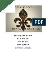 Acadiana Book Festival Program