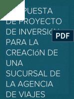 Propuesta de Proyecto de Inversión HT