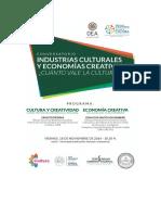 Invitación Conversatorio Cuanto Vale La Cultura Oea-snc-uca