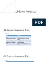Consolidated Products Case Study - Organizational Leadership