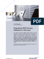 Regulating NGN Access Networks in Germany (Detecon Executive Briefing)