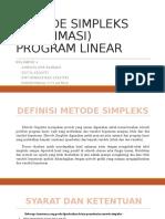 Metode Simpleks (Maksimasi) - (Pl4)