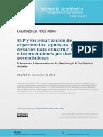 4. Cifuentes - IAP y Sistematización