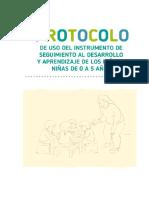 Protocolo Uso Instrumento Seguimiento Aprendizaje y Desarrollo Niños 0-5 Años