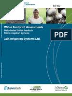 IFC, Jain Irrigation Break New Ground in Corporate Water Footprinting (October 2010)