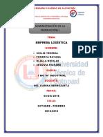 INFORME_ADMINISTRACION_EMPRESALOGISTICA