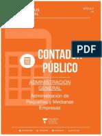Adm Pequeña y Mediana Empresa Administración Unidad X 2018