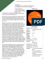 Matahari - Wikipedia Bahasa Indonesia, Ensiklopedia Bebas