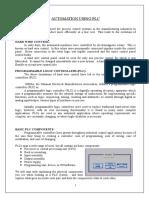 AUTOMATION USING PLC